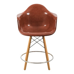 Fiberglass Arm Shell Counter Stool - Dowel Swivel Base