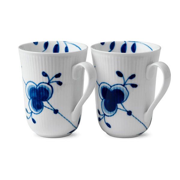 Blue Fluted Mega Mugs - Set of 2