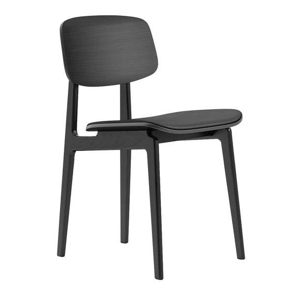 NY11 Dining Chair - Seat Upholstered - Leather Premium Norr11 / Oak - Black - Outlet