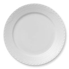 White Fluted Half Lace Plates