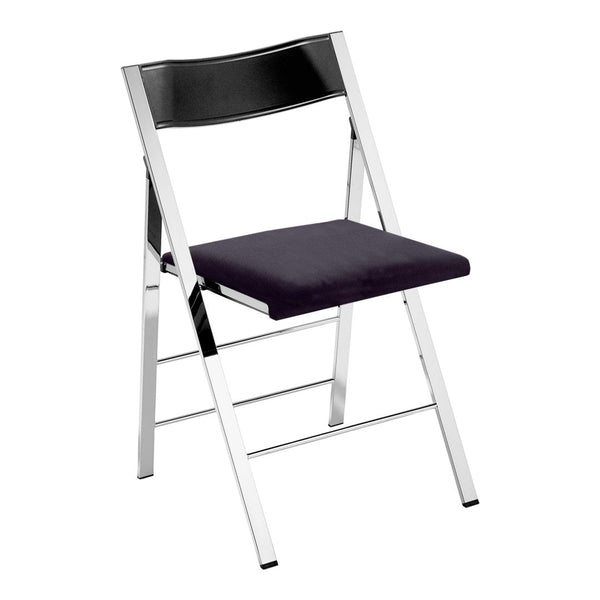 Pocket Chair - Chromed Steel Frame - Seat Upholstered