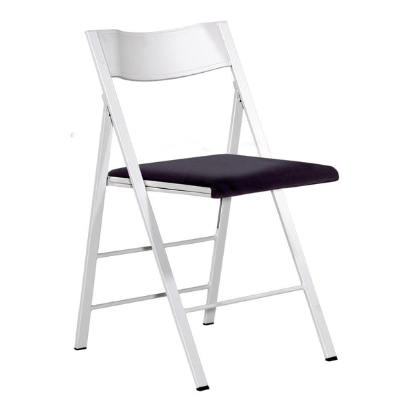 Pocket Plastic Chair - Painted Steel Frame - Seat Upholstered