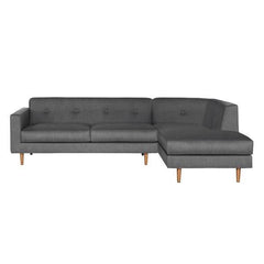 Metropolis 2-Seat Sofa + Right Chaise Longue