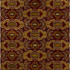 Rupec 39620 Rug - Maroon/Brown/Gold/Black/Grey