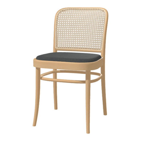 Chair 811 - Cane Back & Seat Upholstered - Beech Frame