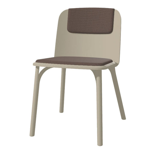 Chair Split - Seat Upholstered - Ash Pigment Frame