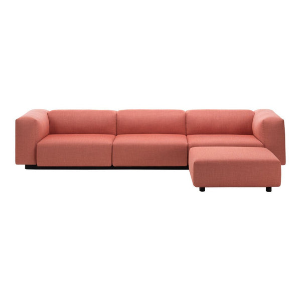 Soft Modular Three-Seater Sofa Plus Ottoman