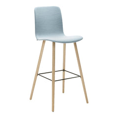 Sola Bar Stool - 4 Leg Wood Base - Fully Upholstered