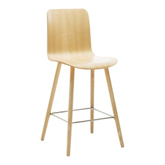 Sola Bar Stool - 4 Leg Wood Base - Unupholstered