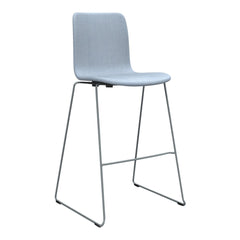 Sola Bar Stool - Sled Base - Seat & Backrest Upholstered