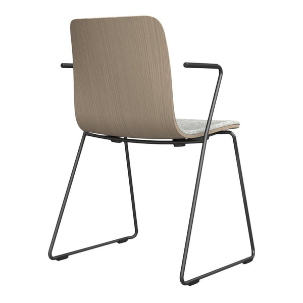 Sola Armchair - Sled Base - Seat & Backrest Upholstered