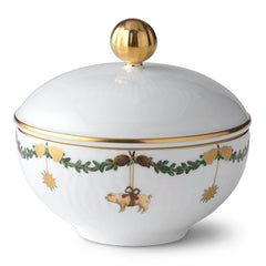 Star Fluted Christmas Sugar Bowl
