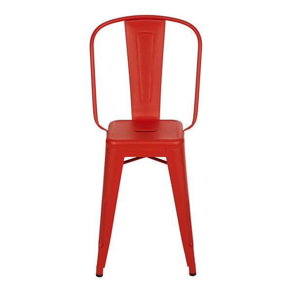 Tolix Dining Stool - High Backrest - Outdoor