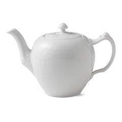 White Fluted Plain Teapot