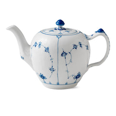 Blue Fluted Plain Teapot