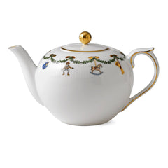 Star Fluted Christmas Tea Pot
