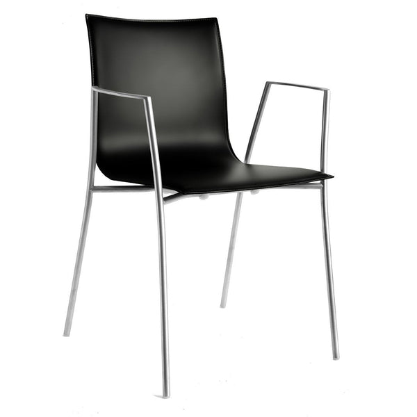 Thin Dining Armchair - Leather