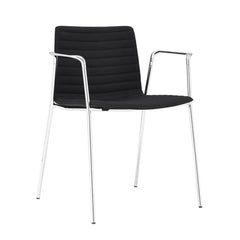 Flex Armchair - 4-Leg Steel Base, Upholstered Seat