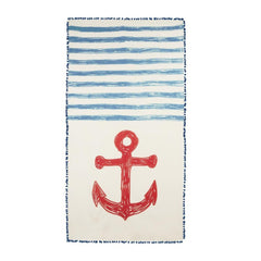 Apparel - Chapati Anchor Sketch Scarf - Navy