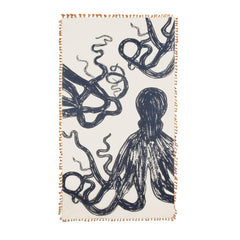 Apparel - Chapati Octopus Sketch Scarf - Orange