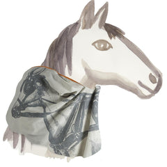 Apparel - Equestrian Cotton Voile Scarf - Carriage