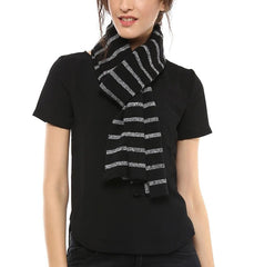 Grindle Stripe Scarf - Black / Natural Grindle