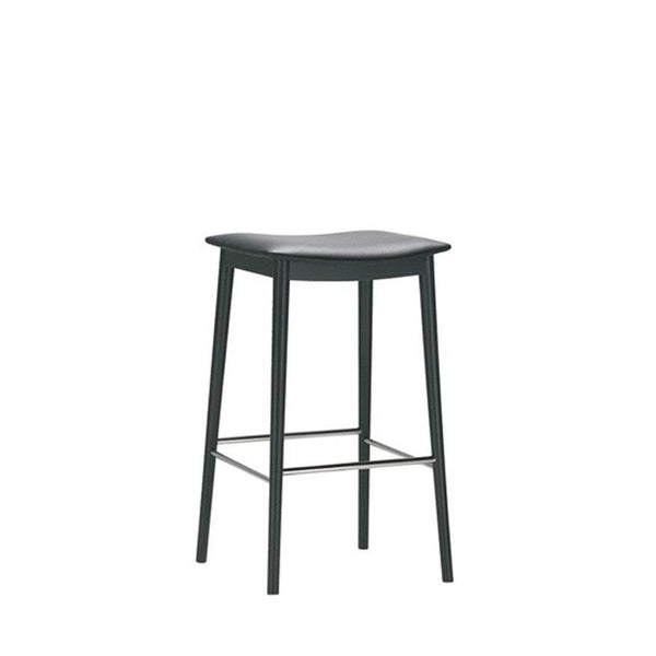 Smile Backless Counter Stool - Upholstered Seat (Leather)