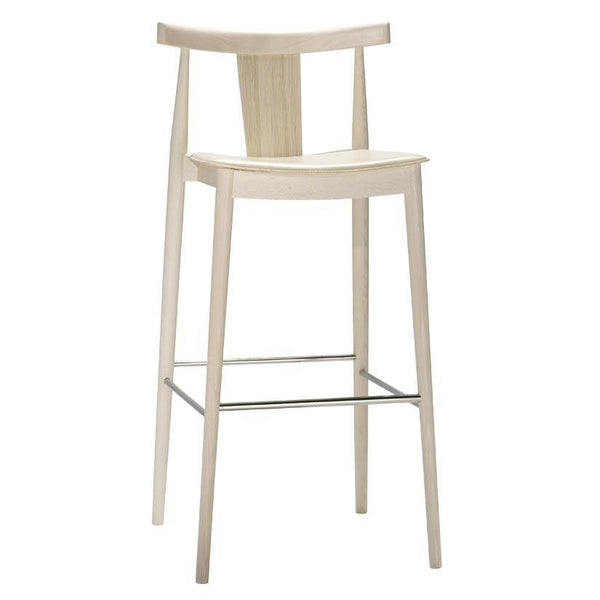 Smile Panel Back Barstool - Upholstered Seat (Leather)
