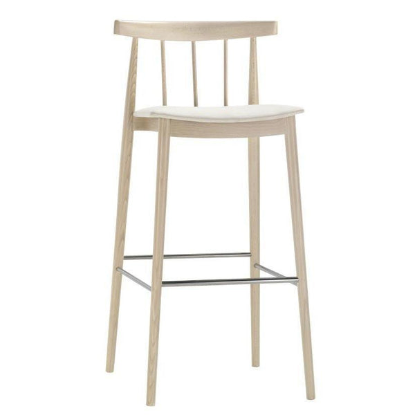 Smile Spindle Back Barstool - Upholstered Seat (Fabric)