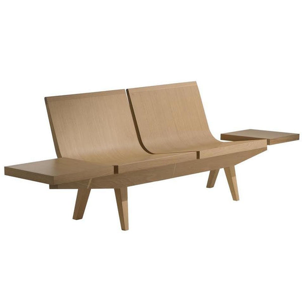 Hokku Designs Revionna Two Seat Bench With Storage: Andreu World Trienal 2-Seater Bench