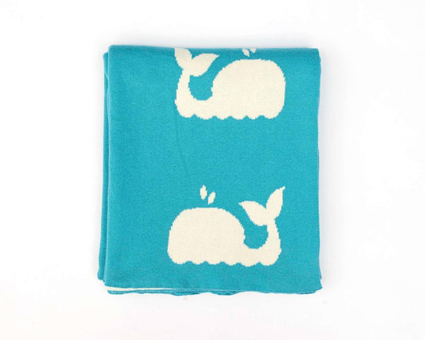 Whale Design Baby Blanket