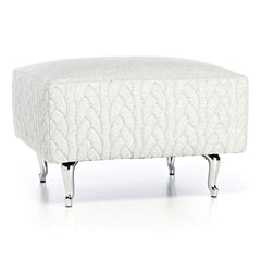 Boutique Footstool - Delft Grey Jumper