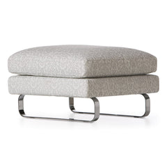 Boutique Footstool - Silver