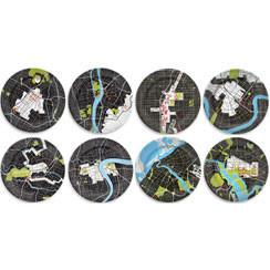 City Plates - Set of 16