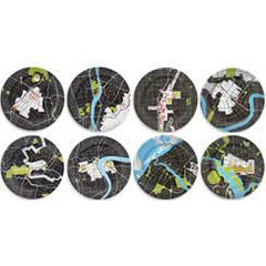 Bowls & Plates - City Plates - Set Of 16