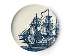 Bowls & Plates - Thomaspaul Melamine Scrimshaw Side Plate Set, Set Of Four