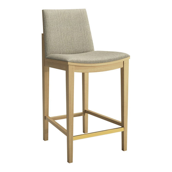 Carlyle Upholstered Counter Stool - Brushed Brass Foot Bar