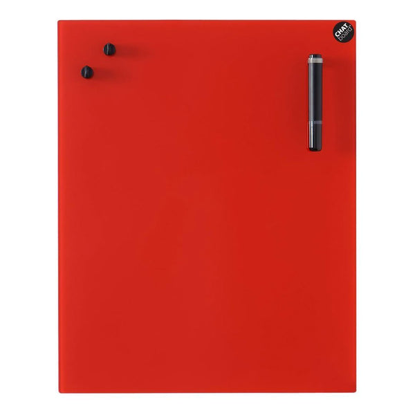 "CHAT BOARD Classic Board - Red - 19.7"" W x 31.5"" H - Showroom"