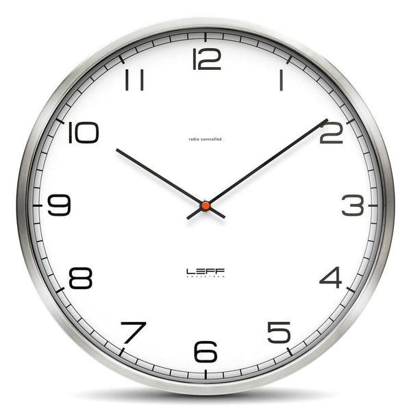 One Wall Clock - Stainless Steel, White Arabic