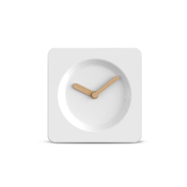 Tile25 Wall Clock - White