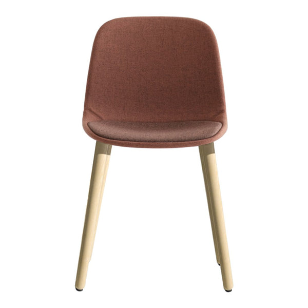 Seela Side Chair - Oak Wooden Base, Fully Upholstered