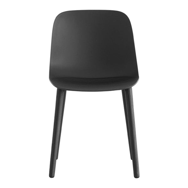 Seela Side Chair - Black Wooden Base, Unupholstered