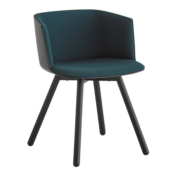 Cut Dining Chair - 4-Legs, Seat Upholstered