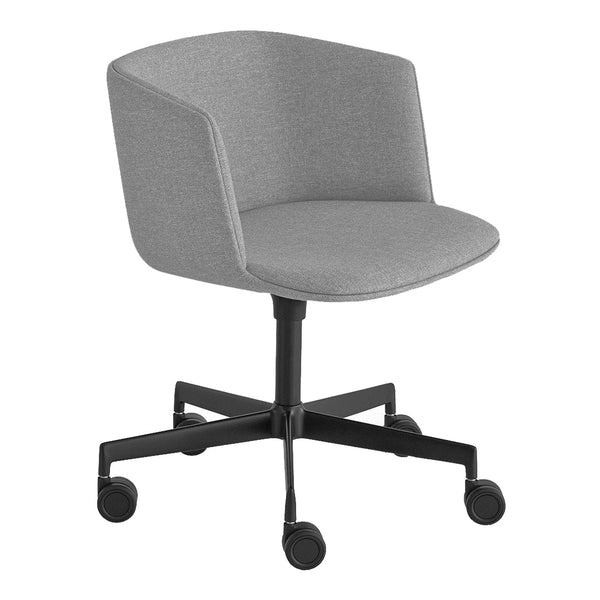 Cut Office Chair - Swivel Base w/ Castors, Fully Upholstered, Fixed