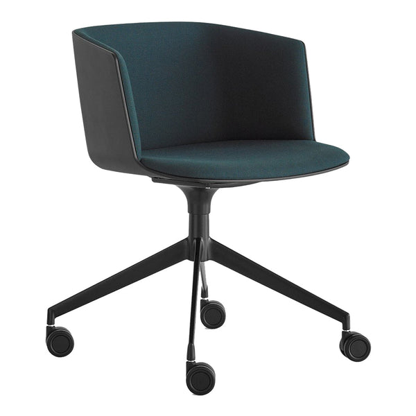 Cut Office Chair - 4-Star Base, Seat Upholstered, Fixed