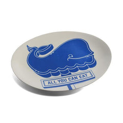 Decorative Trays & Bowls - All You Can Eat Happy Whale Tray