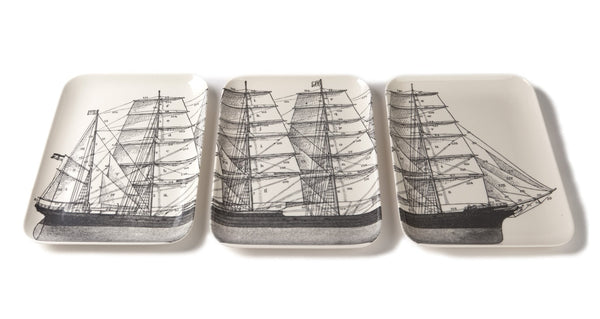 Decorative Trays & Bowls - Thomaspaul Melamine Maritime Tray Set, Set Of Three
