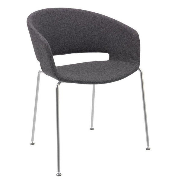 Ronda Armchair - Fully Upholstered - 4-Leg Base