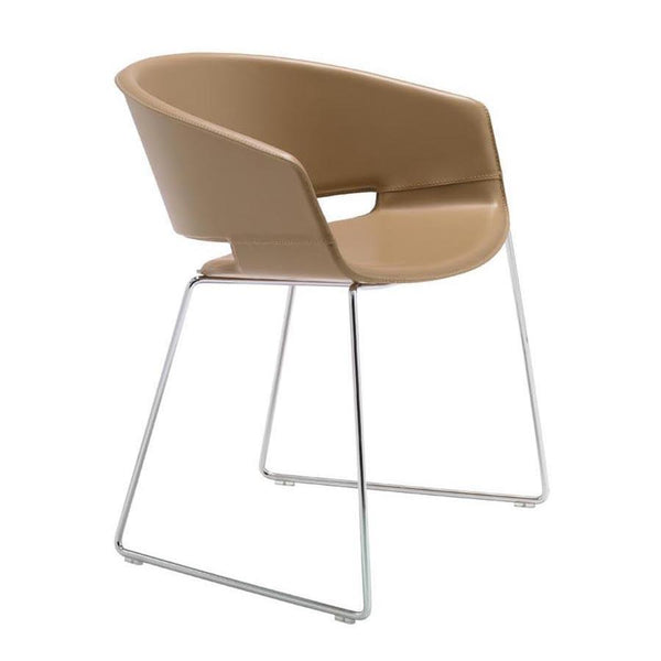 Ronda Armchair - Steel Sled Base