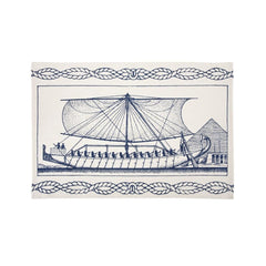 Dish Towels - Egyptian Ship Tea Towel - Ink